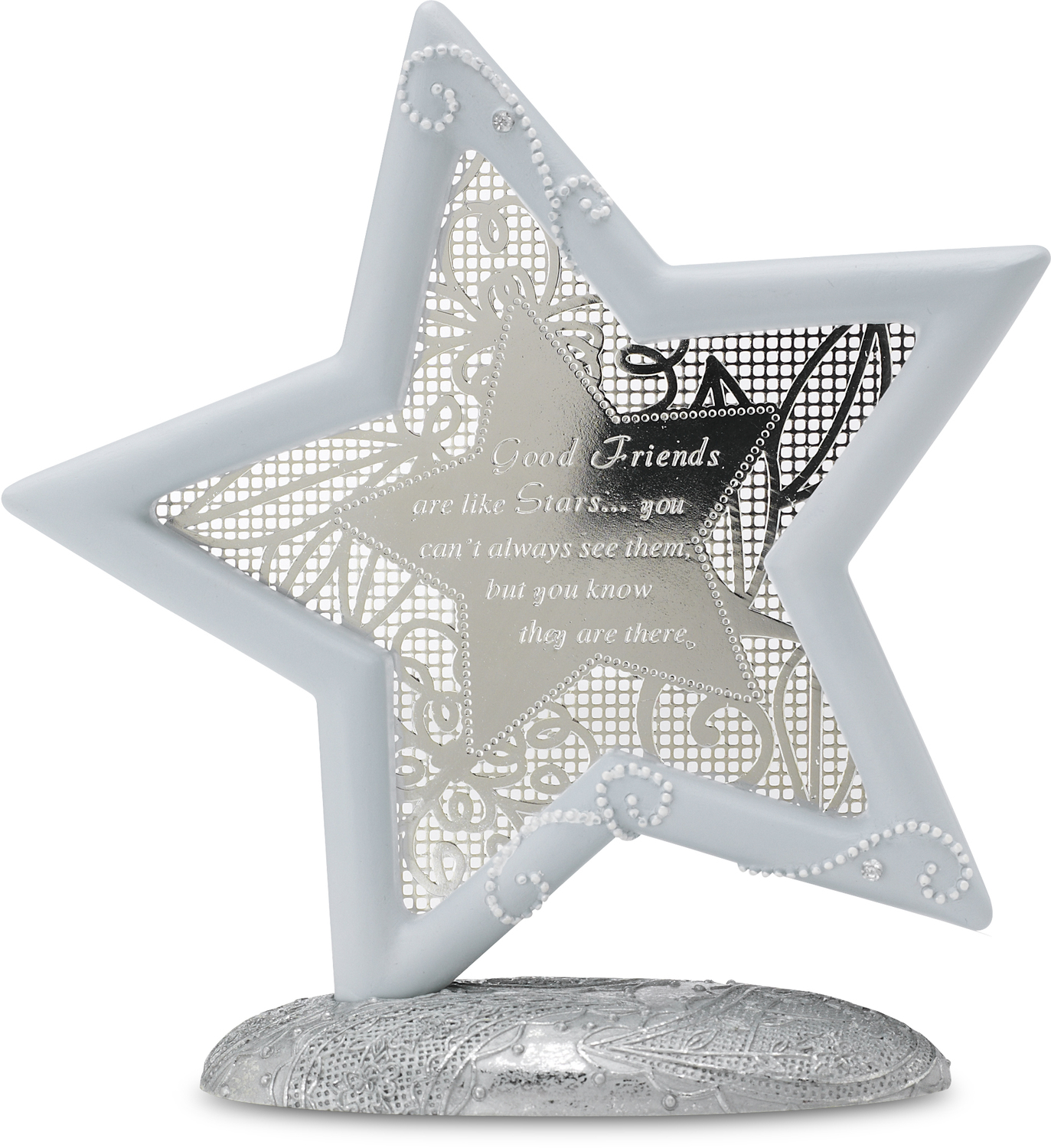 "Good Friends by Little Things Mean A Lot - Good Friends - 5.25"" Self Standing Star"