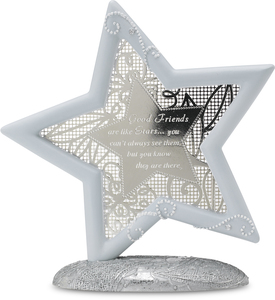 "Good Friends by Little Things Mean A Lot - 5.25"" Self Standing Star"