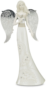 "Aunt by Little Things Mean A Lot - 10"" Angel Holding Flower"