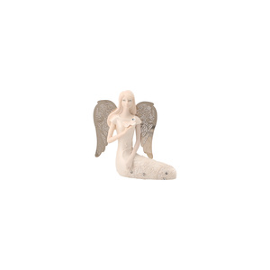 "March Birthstone Angel by Little Things Mean A Lot - 3.5"" March Angel w/ Aquamarine Butterfly"