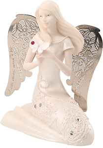 "October Birthstone Angel by Little Things Mean A Lot - 3.5"" October Angel w/ Tourmaline Butterfly"