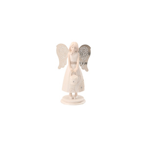 "Flower Girl by Little Things Mean A Lot - 4.25"" Angel w/Basket Flowers"