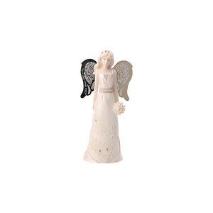 "Junior Bridesmaid by Little Things Mean A Lot - 6"" Angel Holding Bouquet"