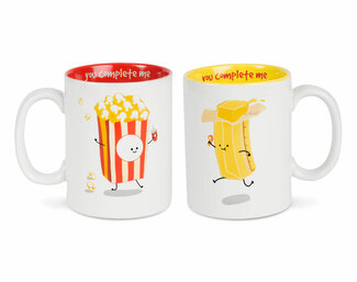 Popcorn and Butter by Late Night Snacks - 18 oz Mug Set