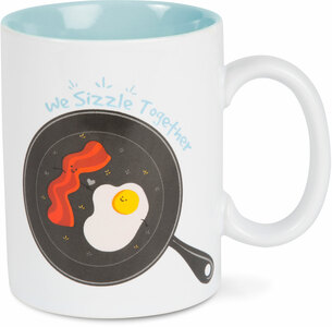Bacon and Eggs Sizzle by Late Night Snacks - 18 oz Mug