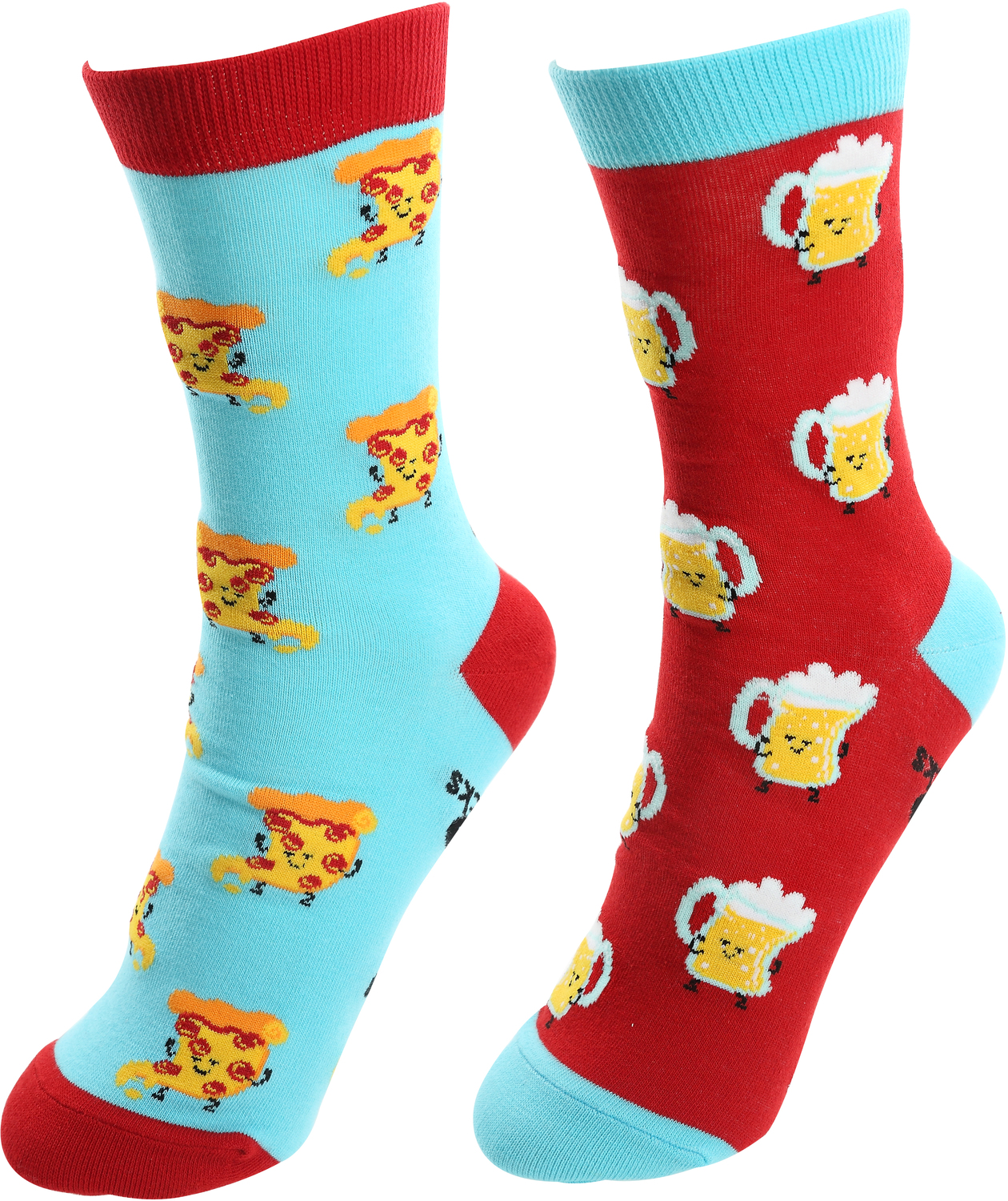 Beer and Pizza by Late Night Snacks - Beer and Pizza - S/M Unisex Socks