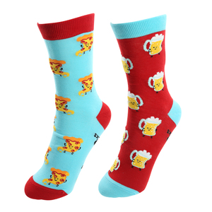 Beer and Pizza by Late Night Snacks - S/M Unisex Socks