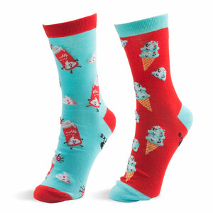 Ice Cream and Whipped Cream by Late Night Snacks - S/M Unisex Socks