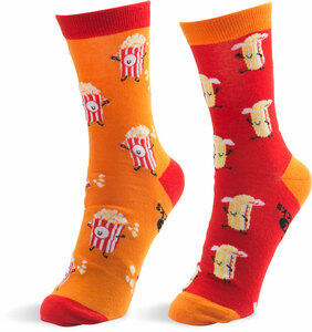 Popcorn and Butter by Late Night Snacks - S/M Unisex Socks