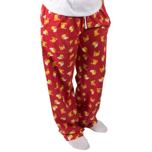 Beer and Pizza by Late Night Snacks - XS Red Unisex Lounge Pants