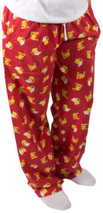 Beer and Pizza by Late Night Snacks - M Red Unisex Lounge Pants