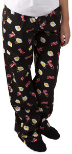 Bacon and Eggs by Late Night Snacks - M Black Unisex Lounge Pants