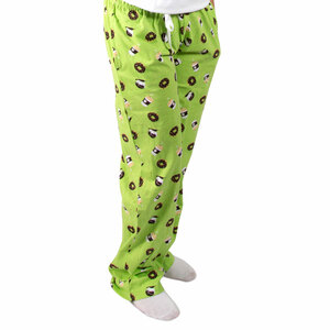 Donuts and Coffee by Late Night Snacks - XS Green Unisex Lounge Pants