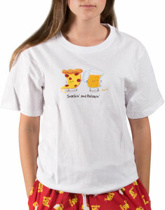 Beer and Pizza by Late Night Snacks - M Unisex T-Shirt