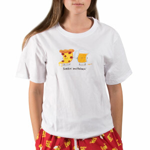 Beer and Pizza by Late Night Snacks - XL Unisex T-Shirt