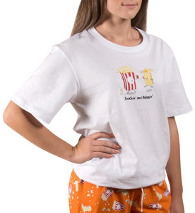 Popcorn and Butter by Late Night Snacks - M Unisex T-Shirt