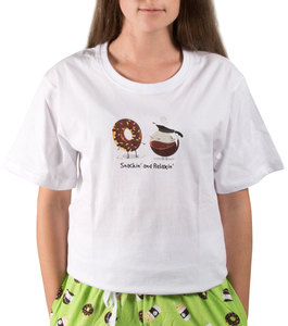 Donuts and Coffee by Late Night Snacks - M Unisex T-Shirt