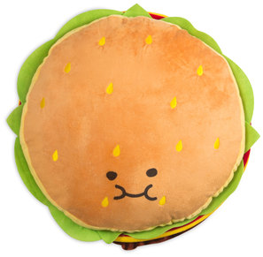 "Cheeseburger by Late Night Snacks - 18.5"" Character Pillow"