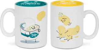 Chips and Dip by Late Night Snacks - 18 oz Mug Set