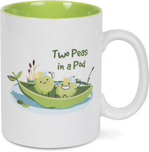 Two Peas by Late Night Snacks - 18 oz Mug