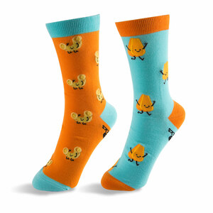 Mac and Cheese by Late Night Snacks - S/M Unisex Socks