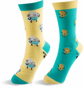 Chips and Dip by Late Night Snacks - S/M Unisex Socks