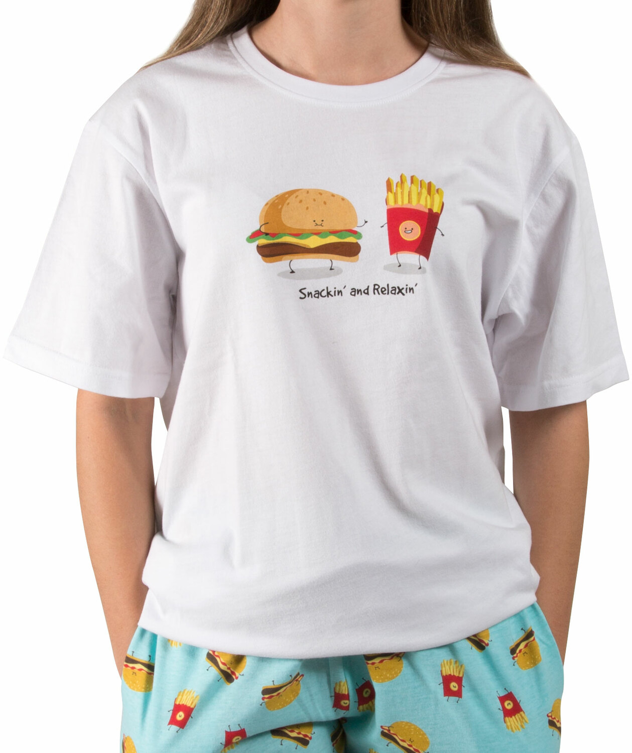 Cheeseburger and Fries by Late Night Snacks - Cheeseburger and Fries - S Unisex T-Shirt