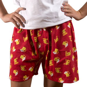 Beer and Pizza by Late Night Snacks - XS Red Unisex Boxers