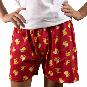 Beer and Pizza by Late Night Snacks - M Red Unisex Boxers