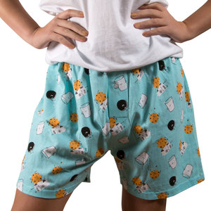 Milk and Cookies by Late Night Snacks - M Light Blue  Unisex Boxers