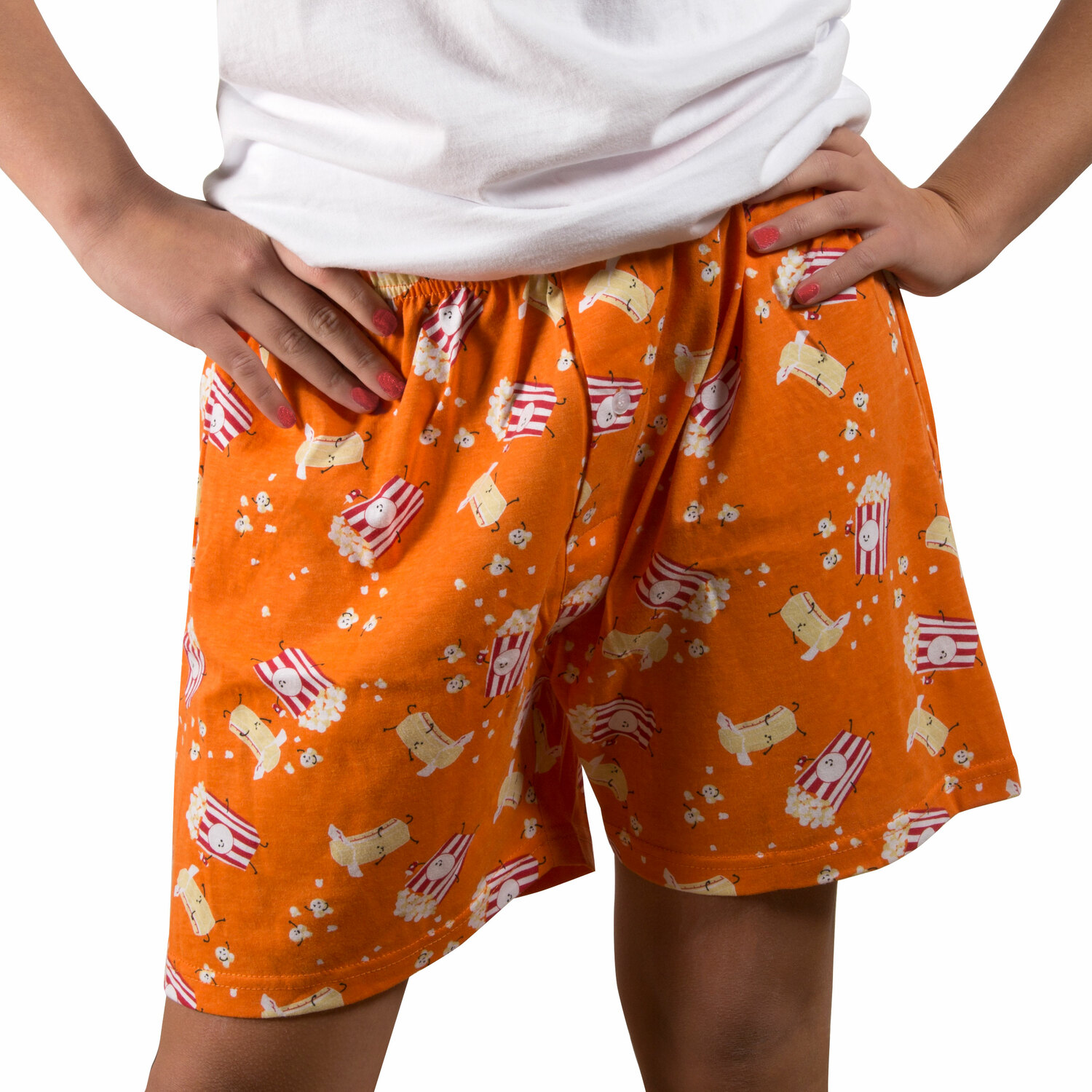 Popcorn and Butter by Late Night Snacks - Popcorn and Butter - XS Orange Unisex Boxers