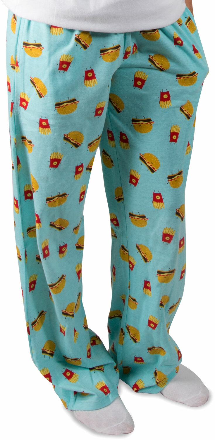 Cheeseburger and Fries by Late Night Snacks - Cheeseburger and Fries - XS Light Blue Unisex Lounge Pants