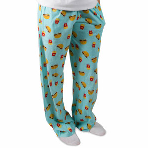Cheeseburger and Fries by Late Night Snacks - XS Light Blue Unisex Lounge Pants