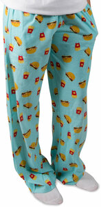 Cheeseburger and Fries by Late Night Snacks - M Light Blue Unisex Lounge Pants