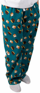 S'mores by Late Night Snacks - M Teal Unisex Lounge Pants