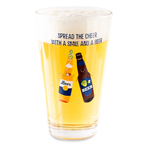 Beer by Late Night Last Call - 16 oz Pint Glass Tumbler