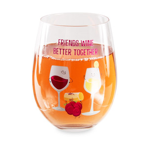 Wine by Late Night Last Call - 18 oz Stemless Wine Glass