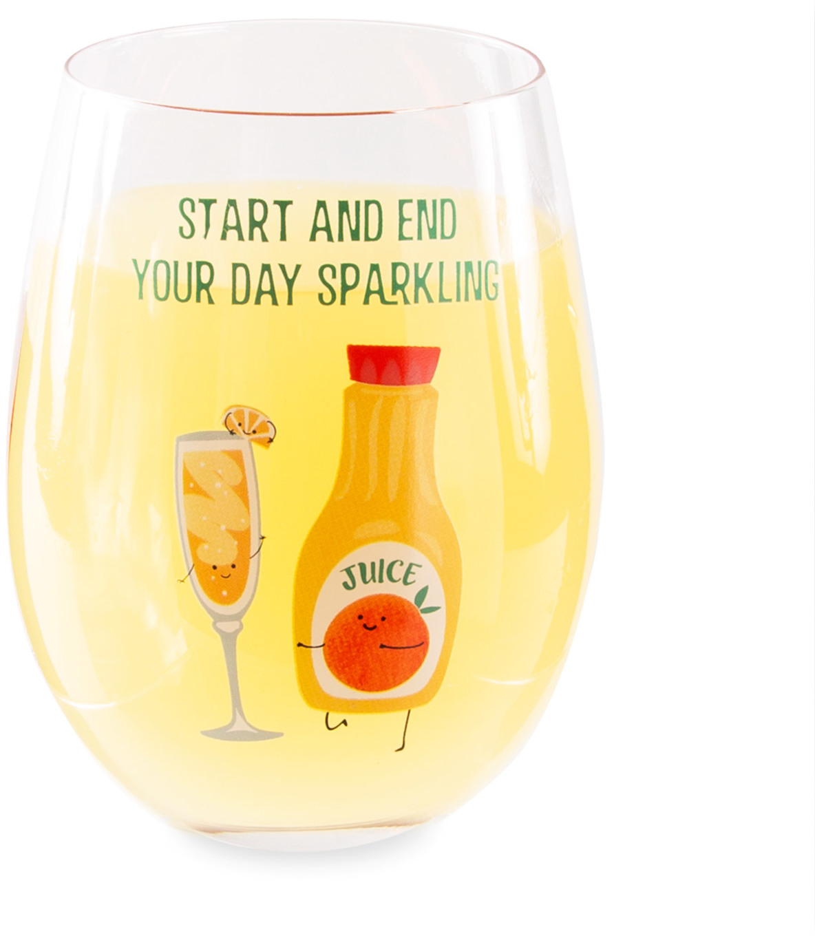 Mimosa by Late Night Last Call - Mimosa - 18 oz Stemless Wine Glass