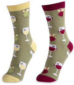 Wine by Late Night Last Call - S/M Unisex Socks