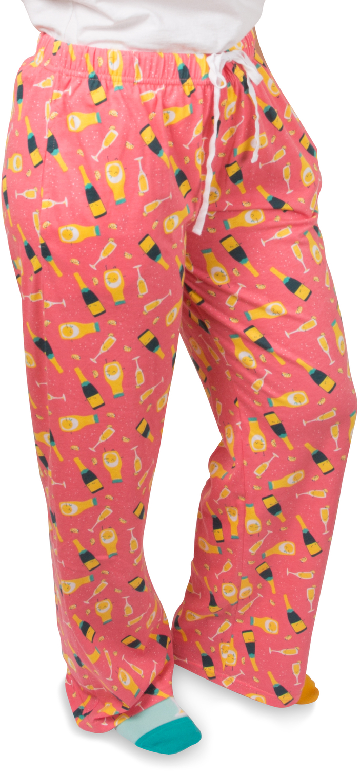 Mimosa by Late Night Last Call - Mimosa - M Peach Unisex Lounge Pants