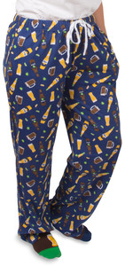 Beer by Late Night Last Call - M Blue Unisex Lounge Pants