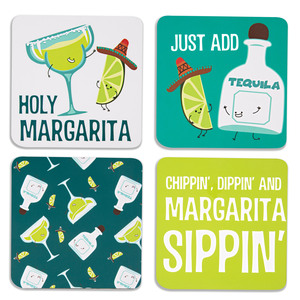 "Margarita  by Late Night Last Call - 4"" (4 Piece) Coaster Set with Box"