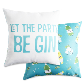 "Be Gin by Late Night Last Call - 14"" x 14"" Pillow"