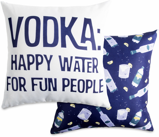 "Vodka by Late Night Last Call - 14"" x 14"" Pillow"