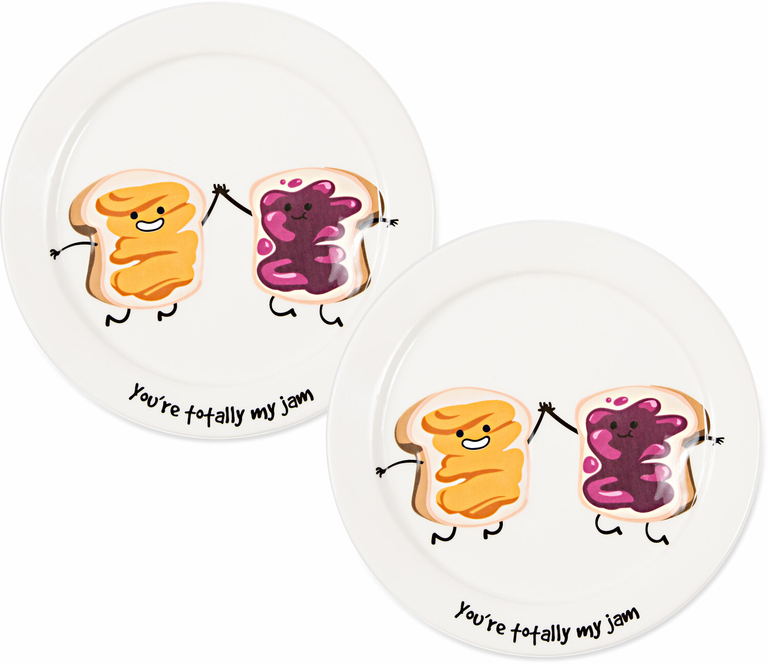 "My Jam by Late Night Snacks - My Jam - 7"" Appetizer Plates (Set of 2)"