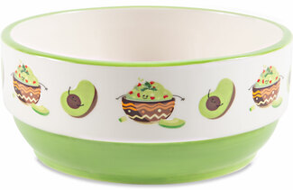 "Guacamole by Late Night Snacks - 6"" Snack Bowl"