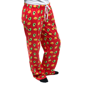 Taco and Avocado by Late Night Snacks - 2XL Red Unisex Lounge Pants