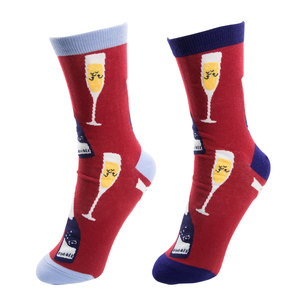 Prosecco & Raspberries  by Late Night Last Call - S/M Unisex Socks