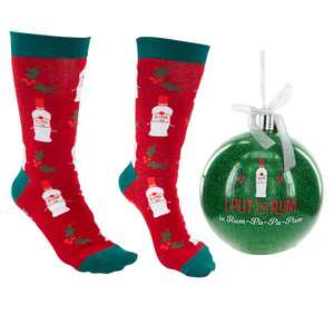 "Rum-Pa-Pa-Pum by Late Night Last Call - 4"" Ornament  with Unisex Holiday Socks"