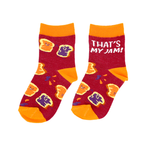 PB & J by Late Night Snacks - M/L Youth Cotton Blend Crew Socks